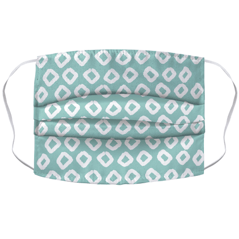 Abstract Diamond Biscay Green Boho Pattern Face Mask Cover