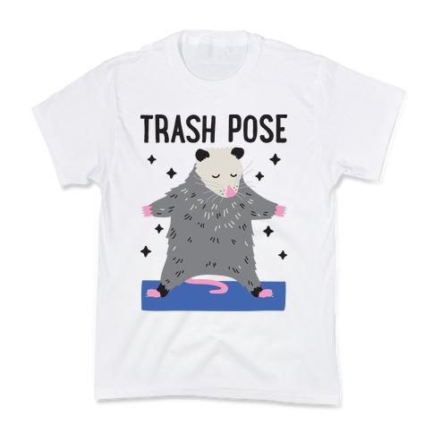 Trash Pose Opossum Kids T-Shirt
