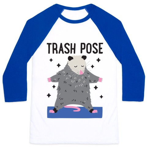 Trash Pose Opossum Baseball Tee