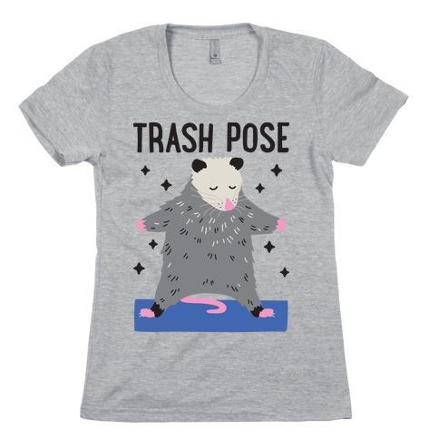 Trash Pose Opossum Womens T-Shirt