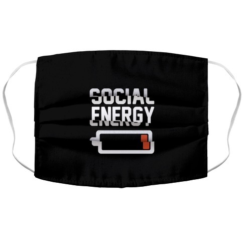 Social Energy Low Accordion Face Mask
