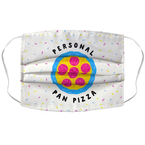 Personal Pan Pizza Accordion Face Mask