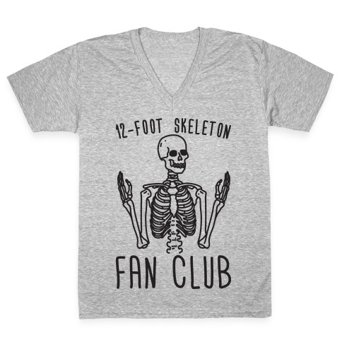 12-Foot Skeleton Fan Club V-Neck Tee Shirt