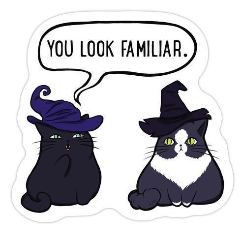 You Look Familiar Die Cut Sticker