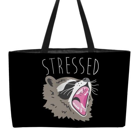 Stressed Raccoon Weekender Tote
