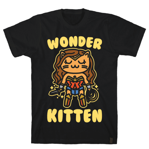Wonder Kitten Parody White Print Mens T-Shirt