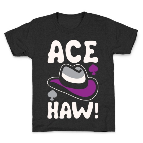 Ace Haw White Print Kids T-Shirt