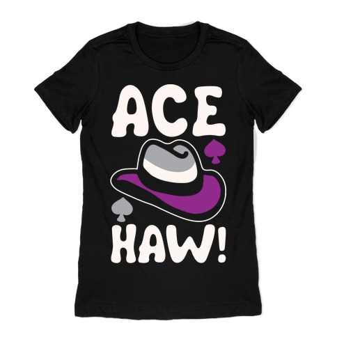 Ace Haw White Print Womens T-Shirt