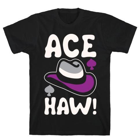 Ace Haw White Print T-Shirt