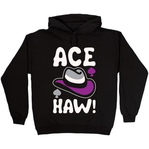 Ace Haw White Print Hooded Sweatshirt