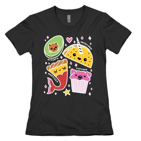 Cute Food Mashups Womens T-Shirt