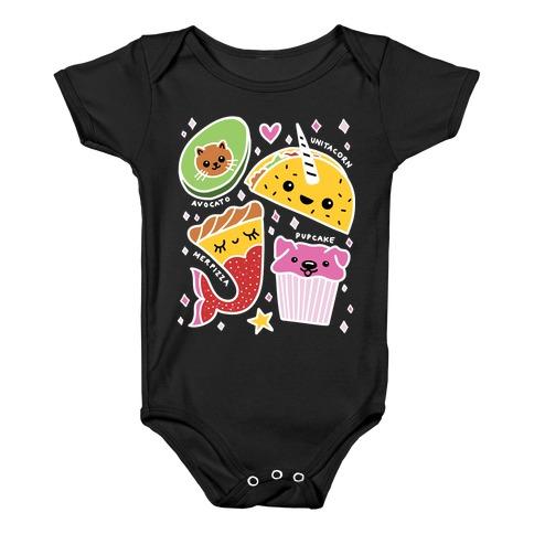 Cute Food Mashups Baby Onesy