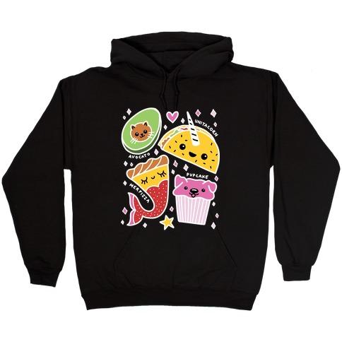 Cute Food Mashups Hooded Sweatshirt