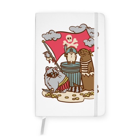 Captain Hedgie's Salty Crew White Print Notebook