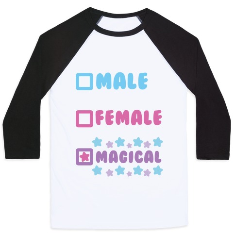 Magical Gender Checklist Baseball Tee