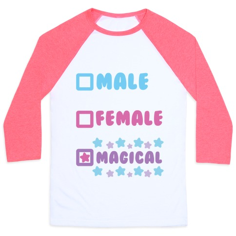 Magical Gender Checklist Baseball Tee