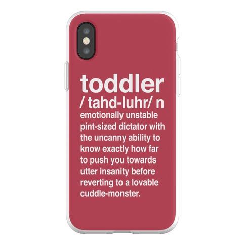 Toddler Definition Phone Flexi-Case