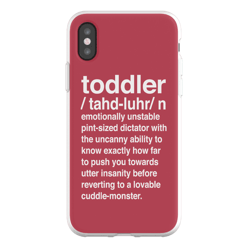 Toddler Definition Phone Flexi-Case