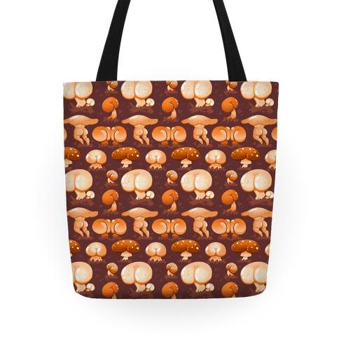 Butt Mushroom Pattern Tote
