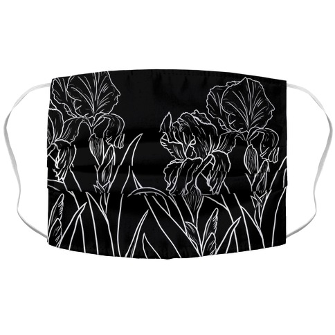 Iris Flowers Accordion Face Mask