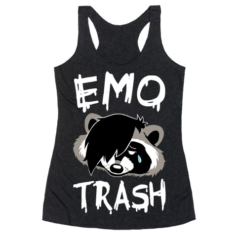Emo Trash Racerback Tank Top