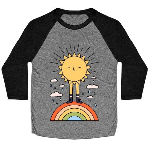 Solar Power Rainbow Baseball Tee