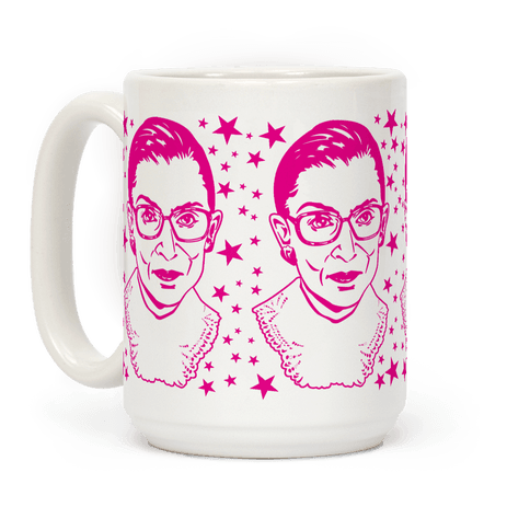 Hot Pink Ruth Bader Ginsburg Coffee Mug