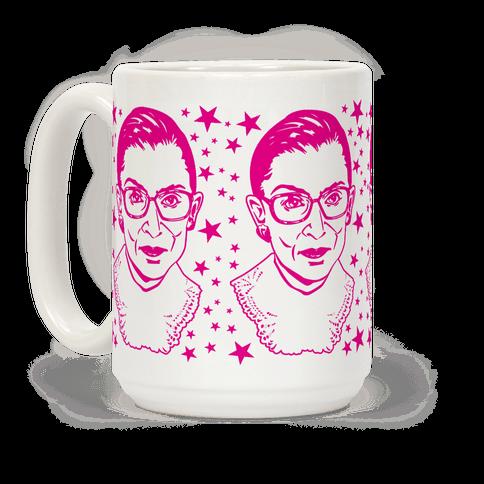 Hot Pink Ruth Bader Ginsburg Coffee Mug