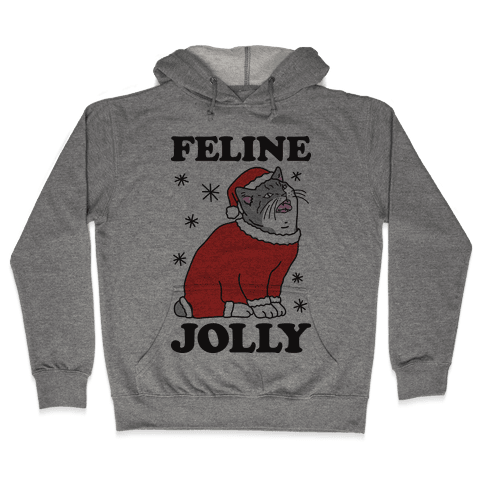 Feline Jolly Cat Hooded Sweatshirt