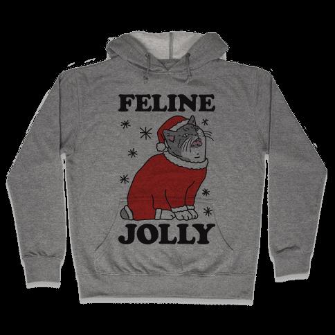 Feline Jolly Cat Hooded Sweatshirt