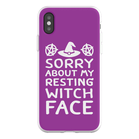 Sorry About My Resting Witch Face Phone Flexi-Case