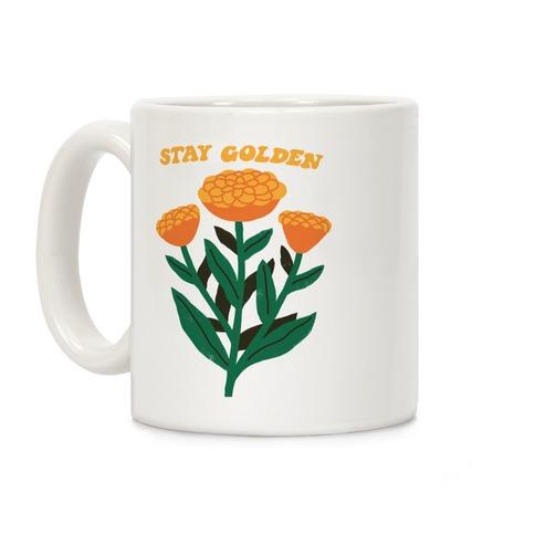 Stay Golden Marigolds Coffee Mug