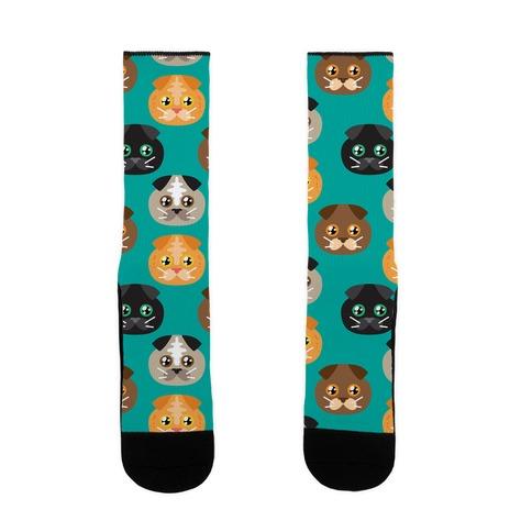 Sad Kitty Squad Pattern Sock