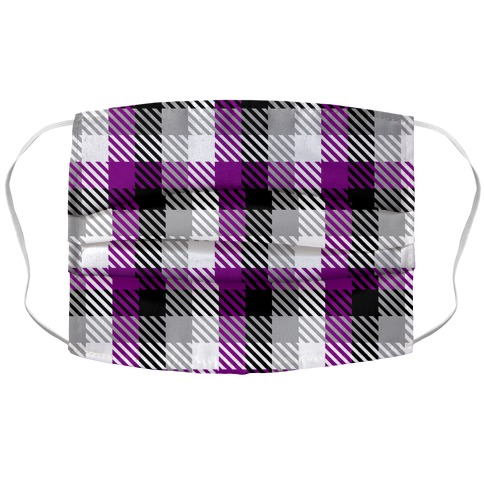 Ace Pride Flag Plaid Accordion Face Mask