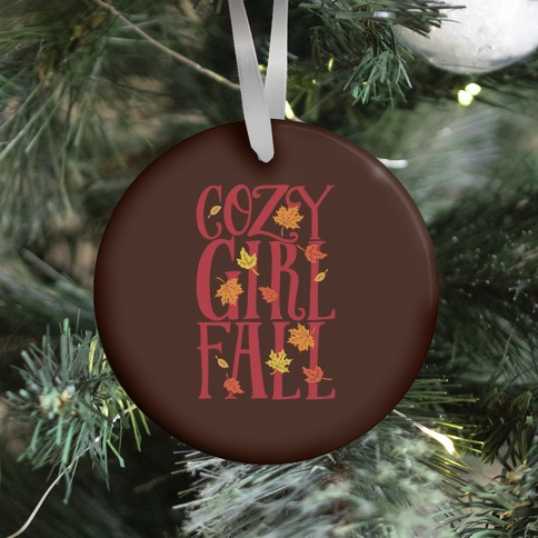 Cozy Girl Fall Ornament