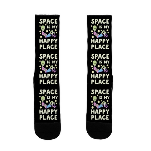 Space is my Happy Place Sock