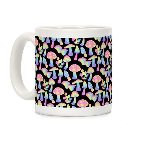 Pastel Rainbow Mushrooms Pattern Coffee Mug