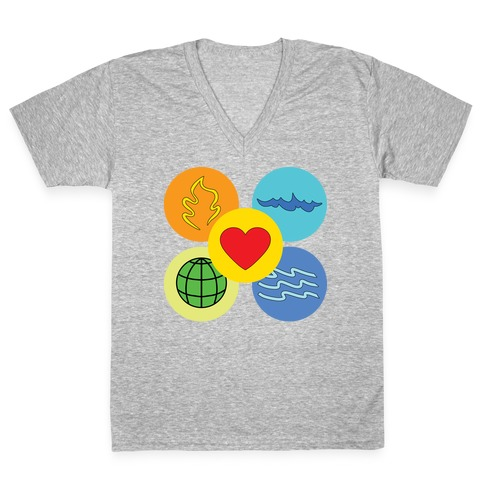 With our powers combined... V-Neck Tee Shirt