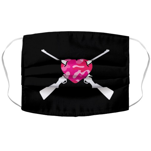 Guns & Hearts Face Mask