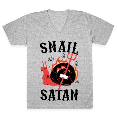 Snail Satan V-Neck Tee Shirt