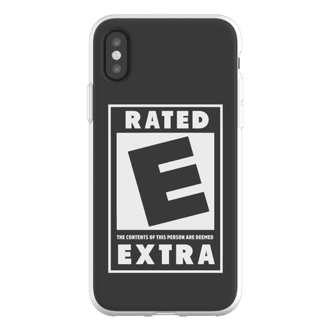 Rated E for Extra Phone Flexi-Case
