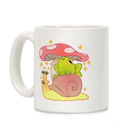 Cute Snail & Frog Coffee Mug