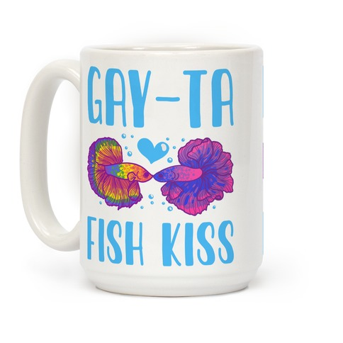 Gay-Ta Fish Kiss Coffee Mug