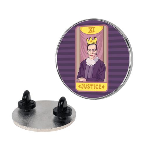 Ruth Bader Ginsburg Justice Tarot pin
