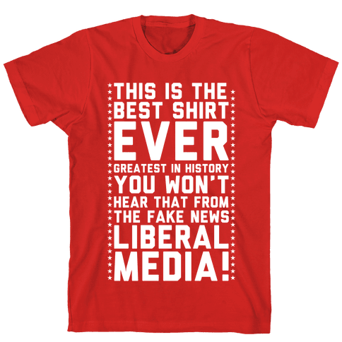Fake News Liberal Media Mens T-Shirt