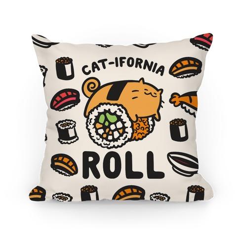 California Cat Roll Pillow