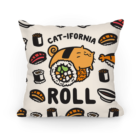 California Cat Roll Pillow