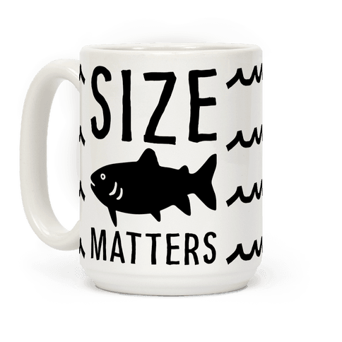Size Matters Fishing Coffee Mug