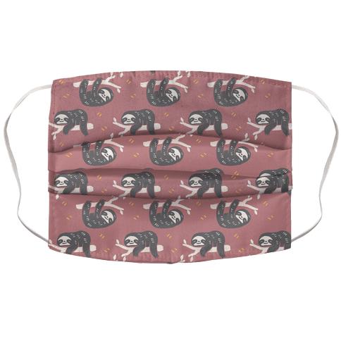 Sloth Dusty Rose Boho Pattern Face Mask