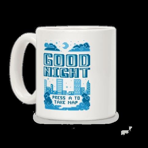 Good Night Game Over Screen Coffee Mug